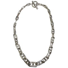 HERMES Necklace 'Chaine d'Ancre' in Sterling Silver 800
