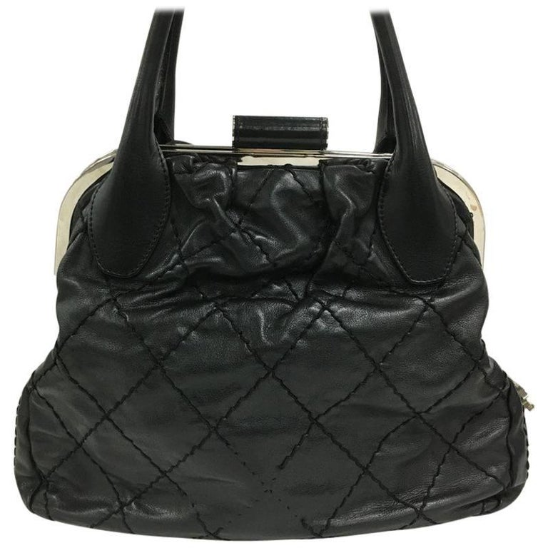 e41c55fc93fb Chanel Expandable Zip Around Quilted Leather Large Frame Bag at 1stdibs