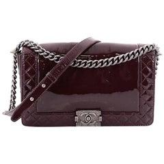 Chanel Reverso Boy Flap Bag Patent New Medium