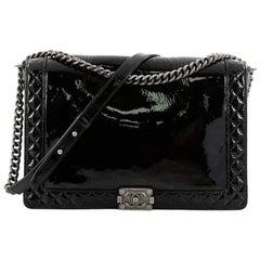 Chanel Reverso Boy Flap Bag Patent Large