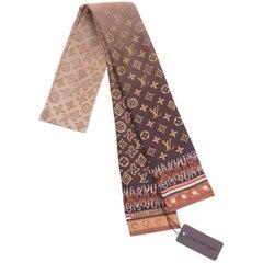 Louis Vuitton Silk Monogram Sash Scarf New with Tag