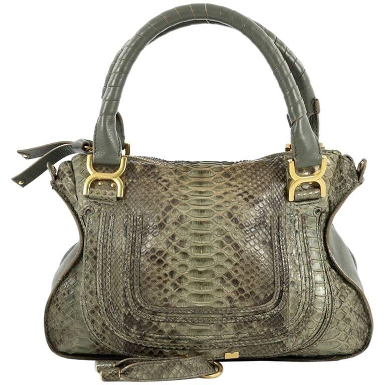 Chloe Marcie Satchel Python Medium For