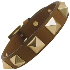 Very Valentino Leather Rock Stud Bracelet