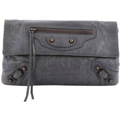 Balenciaga Envelope Clutch Classic Studs Leather