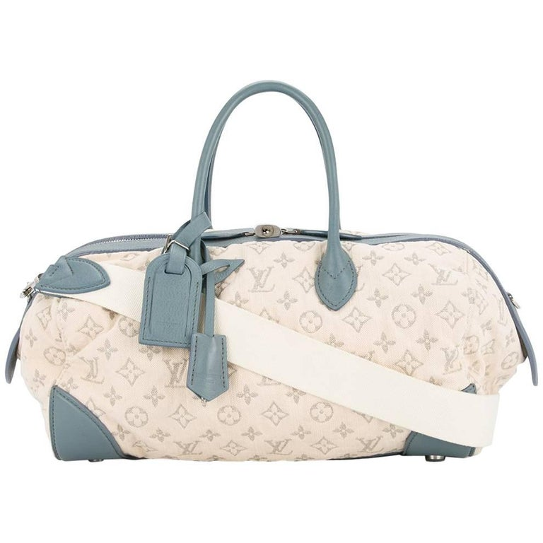 Louis Vuitton Monogram Fabric Leather Carryall Top Handle Satchel Shoulder Bag