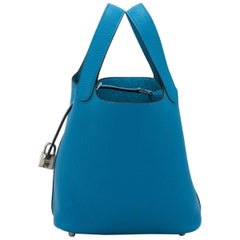 Hermes New Picotin Blue Zanzibar