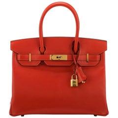 Hermes Birkin 30 Tadelakt Capucine Bag