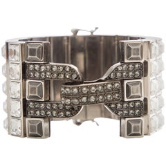 Alber Elbaz For Lanvin Faceted Crystal And Antique Stud Bracelet