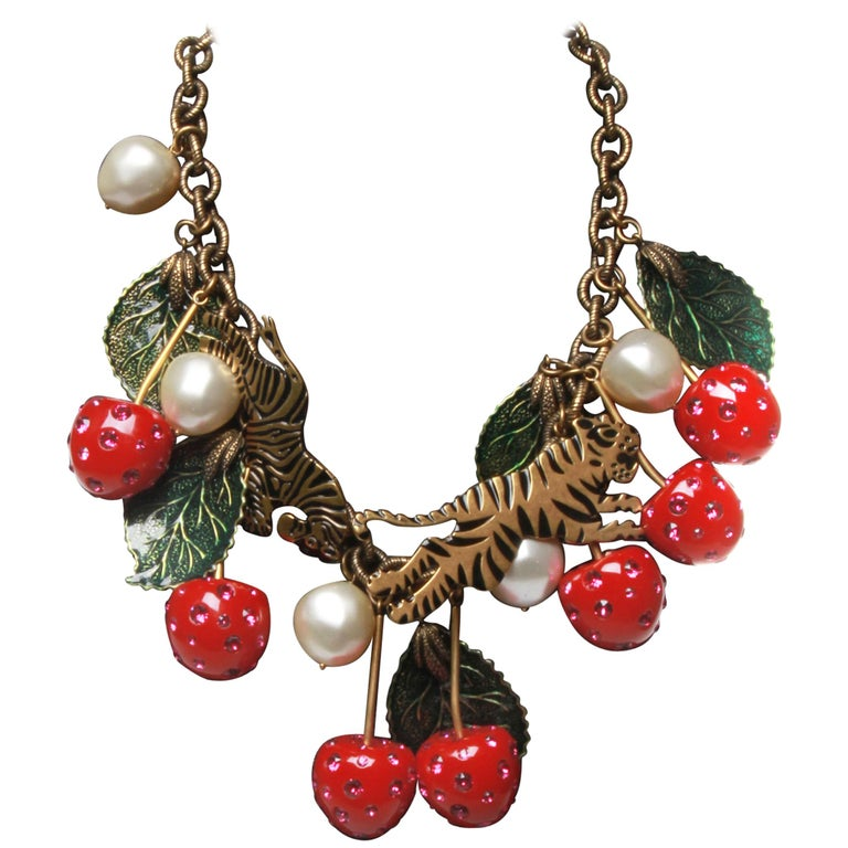 8ab71b4ed Gucci Cherry Statement Necklace at 1stdibs