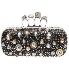 Alexander McQueen Nappa Leather and Studs Knuckle box