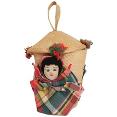1950s Mexican Souvenir Doll Purse