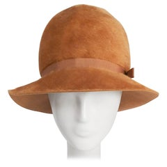 1960s Mustard Yellow Felt Mod Hat