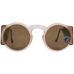 1930s Light Pink Round Celluloid Sunglasses