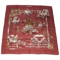 Hermès Vintage Silk Scarf Au Bois Dormant Stroppa 1983 90 cm Rare