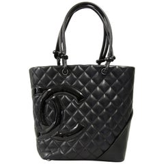 2000s Chanel Black Leather Rue Cambon Bag