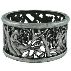 Chloe Silver Toned Koala Cuff Bracelet