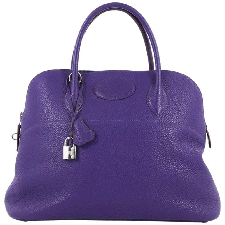 Hermes Bolide Handbag Clemence 35 For Sale