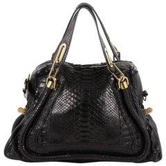Chloe Paraty Top Handle Bag Python Medium