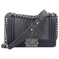 Chanel Boy Flap Bag Stingray Small