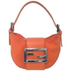 Favorite Fendi Fluorescent Orange Mini Croissant Bag