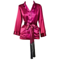 "Yves Saint Laurent Satin ""Smoking Jacket"""