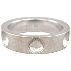 LOUIS VUITTON Size 6 18k White Gold Empreinte Collection Ring