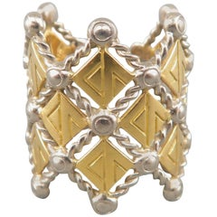 Louis Vuitton with Pharrell and Camille Miceli Gold and Silver Blason Ring