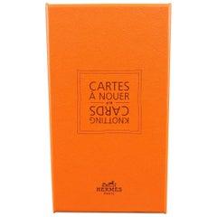 HERMES Orange CARTES A NOUER Knotting Cards
