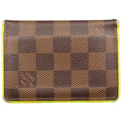 LOUIS VUITTON Brown Damier Neon Trim Poche Prim Card Case