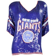 1980's St. Martin Sequined New York Giants Jersey Blouse