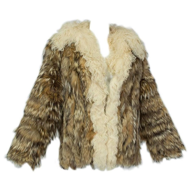 Coyote Fur and Mongolian Lamb Chubby Jacket – Neiman Marcus, 1970s