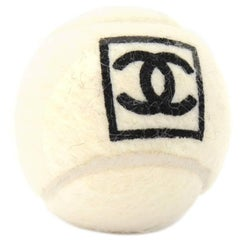 Chanel White Tennis Ball and Pouch