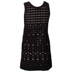 Chanel Black and White Knit Mini Dress