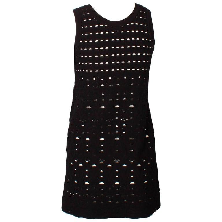 Chanel Black and White Knit Mini Dress