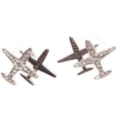Chanel Swarovski Crystal Aeroplane Studs