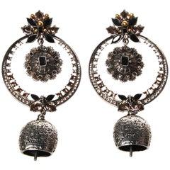 Alexander McQueen Bell Crystal Drop Earrings