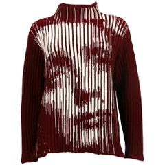 Jean Paul Gaultier Vintage Optical Illusion Dietrich Virgin Wool Sweater Size L