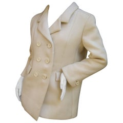Norman Norell Couture Cream Wool Jacket circa 1970