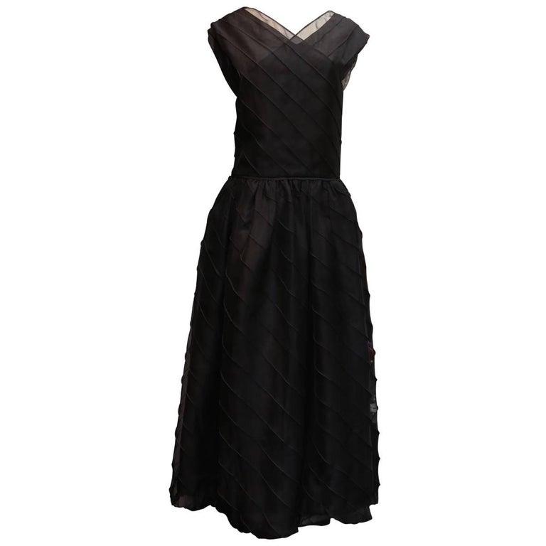Chanel Long Black Silk Evening Gown Fall 1998  1
