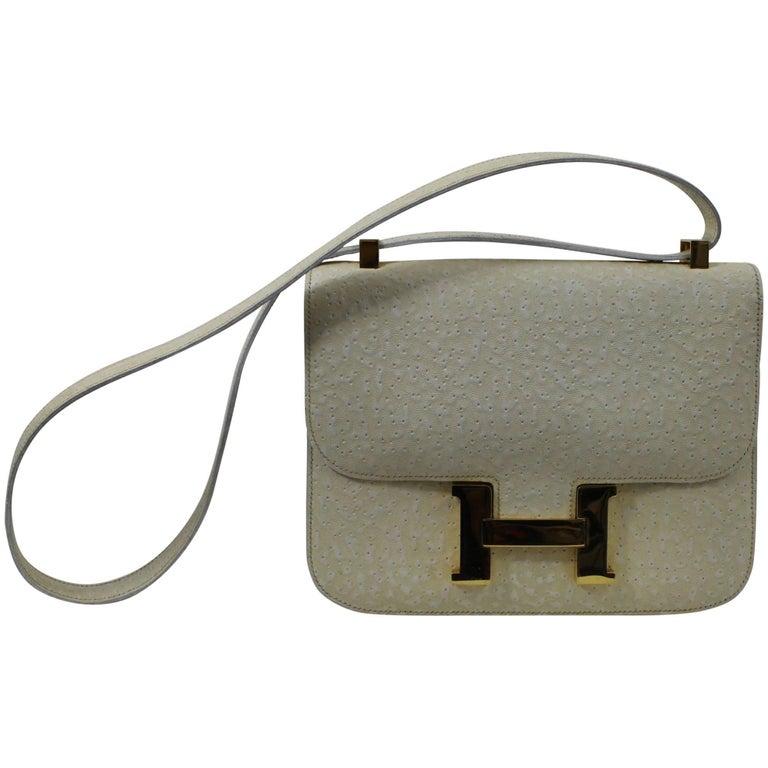 1973 Hermes Constance Bag in Beluga Leather