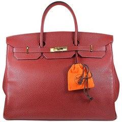 Hermes 40cm rote Birkin Bag