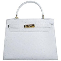 30cm Hermes Kelly Bag Weiß