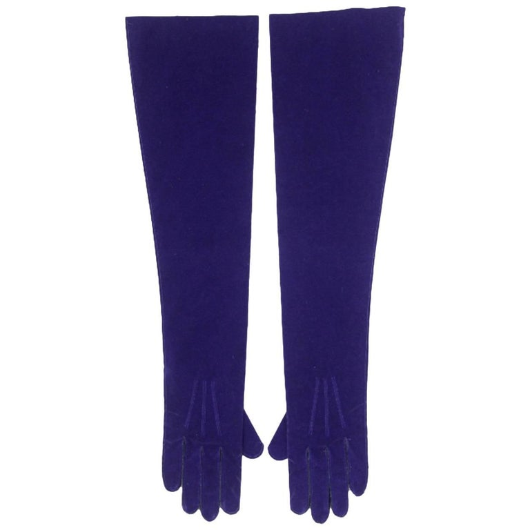 Rare Comme des Garcons Fall 1996 Sample Labelled Moleskine Gloves