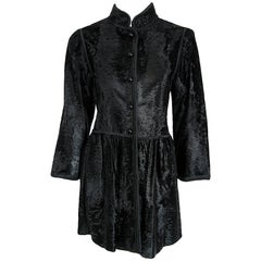 1976 Yves Saint Laurent Couture Russian Collection Black Broadtail Fur Jacket