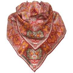 Stunning Hermes Exclusif Giant Silk Scarf Shawl Vintage Oriental Pattern 140 cm