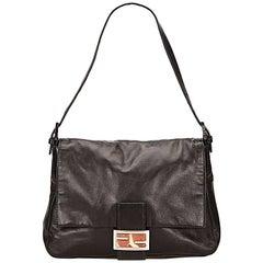 Black Fendi Leather Shoulder Bag