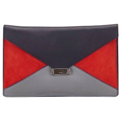 Multicolor Celine Leather Diamond Clutch