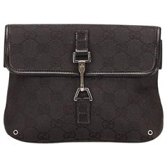 Gucci Black Jacquard Guccissima Belt Bag