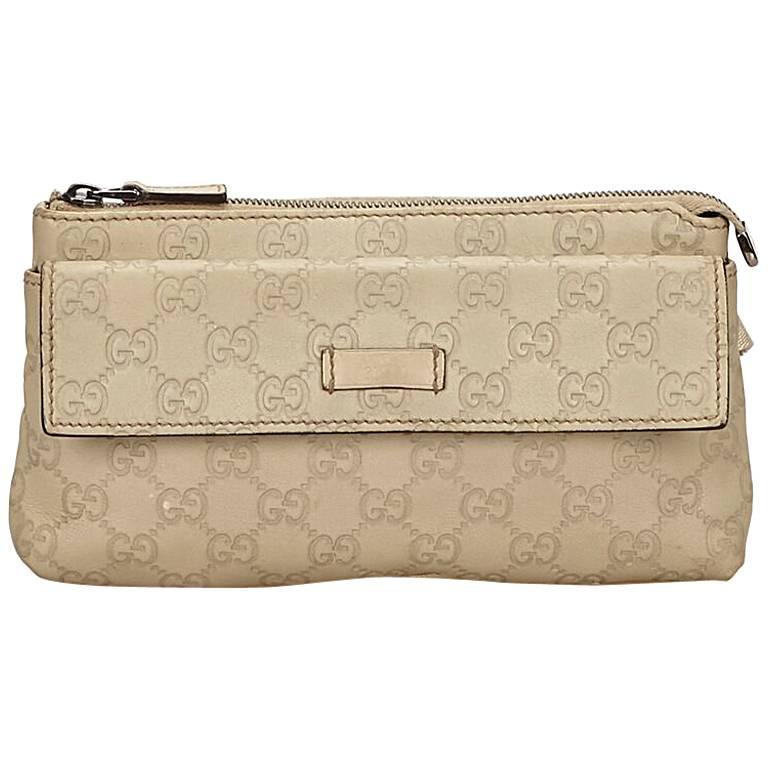 32f8ad31b405f9 Gucci Beige Embossed Guccissima Belt Bag For Sale at 1stdibs