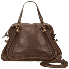 Brown Chloe Paraty Leather Satchel